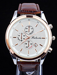Men's Fashion Casual Waterproof Leather Wrist Watch