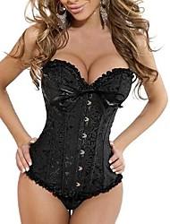 nobre quente babados poliéster bordado classice lolita corset