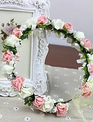 100% mariage de fleurs artificielles de rosettes de mousse PE fait à la main femmes Casques bandeau mariée (plus de couleurs)