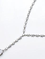 слеза CZ партия ожерелье для женщин