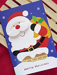 carte christma polvere glitter con cappello di natale