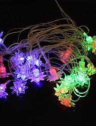 lampe de lumière de bande de lumière rgb glace fleur 5m 4.8W noël éclair 20-conduit (plug UE, ca 110-220V)