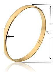 7,1 centímetros de largura ouro suave tb banhado a ouro pulseira de tamanho l (1 peça)