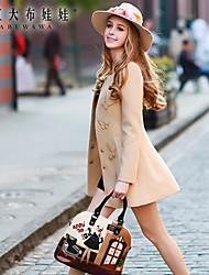 Pink Doll® Women's Stitching Bow Tweed Elegant OL Coat