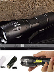 LED Flashlights/Torch / Handheld Flashlights/Torch LED 5 Mode 2000/1200/1600 Lumens Waterproof / Rechargeable / Nonslip grip Cree XM-L T6