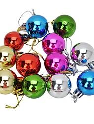 Brillanz Bälle Weihnachtsbaum Ornament Anhänger - mehrfarbig (12 Stück)