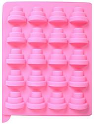 16-Loch-Kuchen Form Kuchen Eis Gelee Schokoladenformen, Silikon 22,5 × 18 × 4 cm (8,9 x 7,0 x 1.6inch) zufällige Farbe