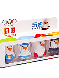 Lucky Cartoon Mascot Toy for Children Sports Toys Furnishing Articles Doll Chick Sports  Figures Set of 4