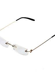 [бесплатная линзы] никель сплав прямоугольник без оправы классический чтения очки