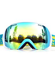BASTO Sand Green Frame Yellow Sensor Skiing Snow Goggles