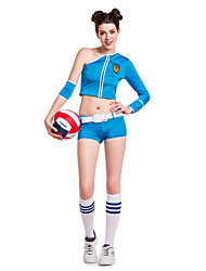 Cheerleader Costumes Performance Women's Sexy Silk Dance Outfit-Including Hand Flowers And Socks