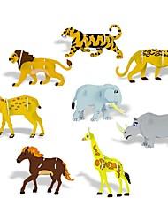 3D DIY творческих 8 животных построить собрать комплект учебных пособий игрушки Puzzle головоломки игры для детей детей
