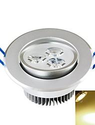 Lâmpada de Teto Encaixe Embutido 3PCS COB 300-350 lm Branco Quente Decorativa AC 85-265 V