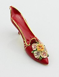 High-heeled Shoes Enamel Trinket Box
