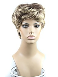 100% 180 Degree High Temperature Fiber Capless Short Synthetic Wig