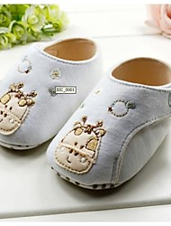 Baby Shoes First Walker Flat Heel Cotton Fashion Sneakers with Magic Tape and Animal Print Shoes
