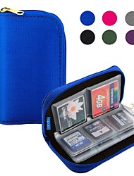 Lacdo® Memory Card Carrying Case Holder Pouch Bag  22 Slots for SD SDHC MMC CF Micro SD Storage (Assorted Colors)