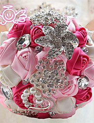 Luxury Romantic Pristian Zouboutin Rhinestone Diamond Wedding Flowers Bridal Bouquet Jewelry Bouquet Bride(More Colors)