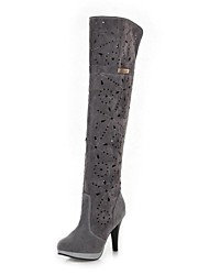 Women's Shoes Platform Round Toe Chunky Heel Over The Knee Boots with Hollow-out More Colors available
