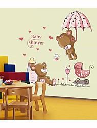 stickers muraux stickers muraux, gawk le style d'ours en PVC stickers muraux