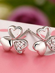 Mode Silber Zirkon Ohrringe