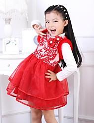 Рождество и Новый Год Show Girls выполнения национальной печати ветра сетка платье принцессы шерстяной жилет