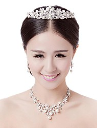 Women's Alloy Jewelry Set Pearl/Rhinestone