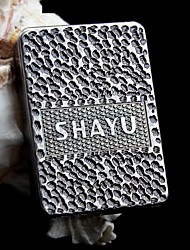 Personalized  Gift Ancient Silver Metal SHAYU Pattern Electronic Lighter