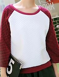 gola redonda cor contrato de Jansa ™ mulheres engrossar camisolas