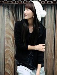 Damenmode einfarbig stricken Hut