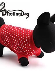 Katzen / Hunde T-shirt Rot Hundekleidung Frühling/Herbst Gepunktet