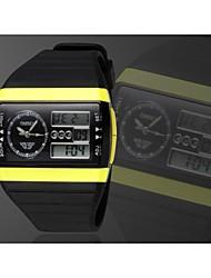 schwarze runde Zifferblatt Silikonband Japan-Bewegung Mode Tauchen Sportuhr Herrenarmbanduhr
