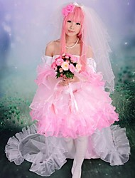 Inspired by Vocaloid Megurine Luka Video Game Cosplay Costumes Cosplay Suits / Dresses Patchwork Pink SleevelessDress / Headpiece /