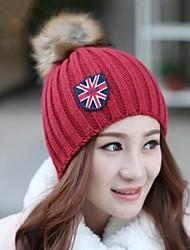 união moda bola de pêlo de coelho jack das mulheres chapéu de malha