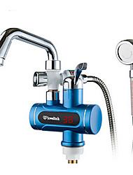 Digital Electric Water Heaters Faucet Cold hot dual-purpose display screen blue gem