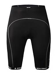 wolfbike unisex verão short-black ciclismo pad gel mtb mountain bike