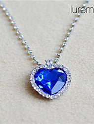 Lureme®Titanic Ocean Blue Love Pendant Necklace