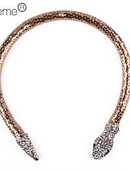 Femme Collier court /Ras-du-cou Forme de Cercle Serpent Alliage Argent Doré Bijoux Pour Soirée Quotidien