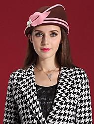 chapéus mais recente lã estilo senhoras britsh partido / outdoor / ocasião / feltro&Caps (mais cores)
