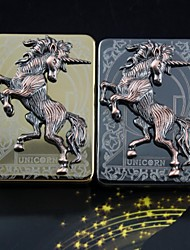 Personalized Engraving Unicorn Pattern Metal Electronic Lighter