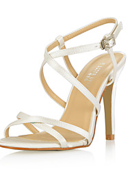 Women's Shoes Open Toe Stiletto Heel   Satin Sandals  with Buckle Shoes