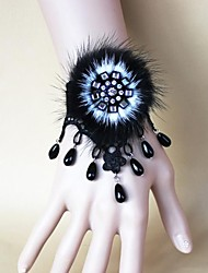 steampunk®mink волос черный жемчуг кружева браслет / ремешок