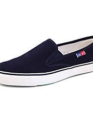 Men's Shoes Casual Fabric Loafers Blue/White
