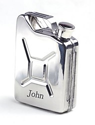 Personalized  Gift 5 oz Silver Stainless Steel Flask