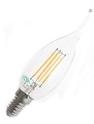 4W E14 LED лампы накаливания CA35 4 380 lm Тёплый белый Декоративная AC 220-240 V