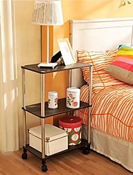 byn support en bois à trois couches mobile, 50x30x77.5cm