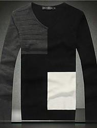 Men's Fashion V Neck Slim Pullover Sweater