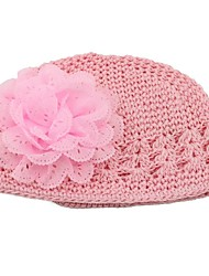 chapeau maille fleurs en mousseline de soie chapeau de crochet bébé bébé de bébés filles&enfants beanie enfants skullies chapeau accessoires