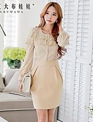 moda elegante falda doll® de las mujeres de color rosa