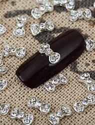10pcs 3d cristal bling strass Noeud Papillon arc Manucure des bijoux en alliage brillant manucure bijoux